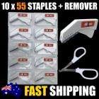 10x Staple Gun 55 Staples + Remover